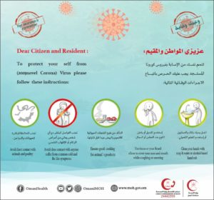 prevent coronavirus infection oman